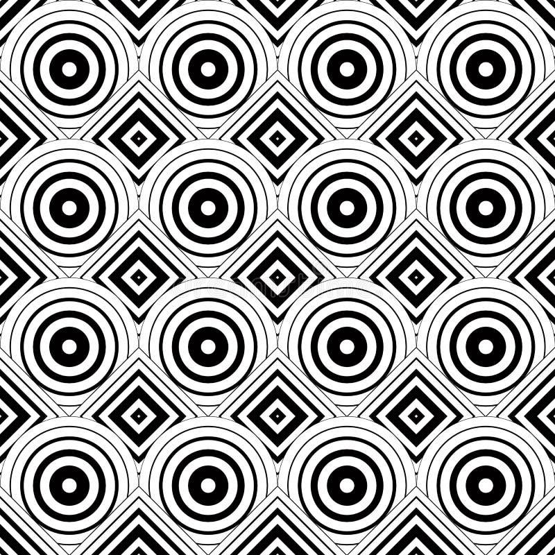 Naadloze geometrische achtergrond, eenvoudige zwart-witte strepen ve vector illustratie