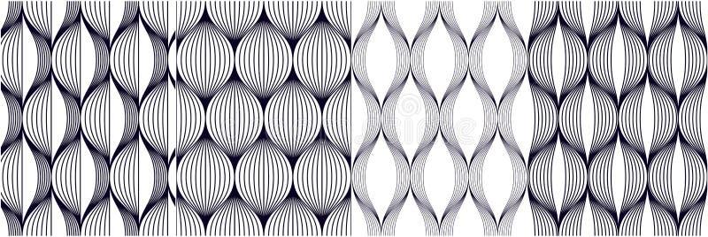 Naadloze geometrische geplaatste patronen De geometrische eenvoudige drukken van de manierstof Vector die de inzameling van tegel vector illustratie