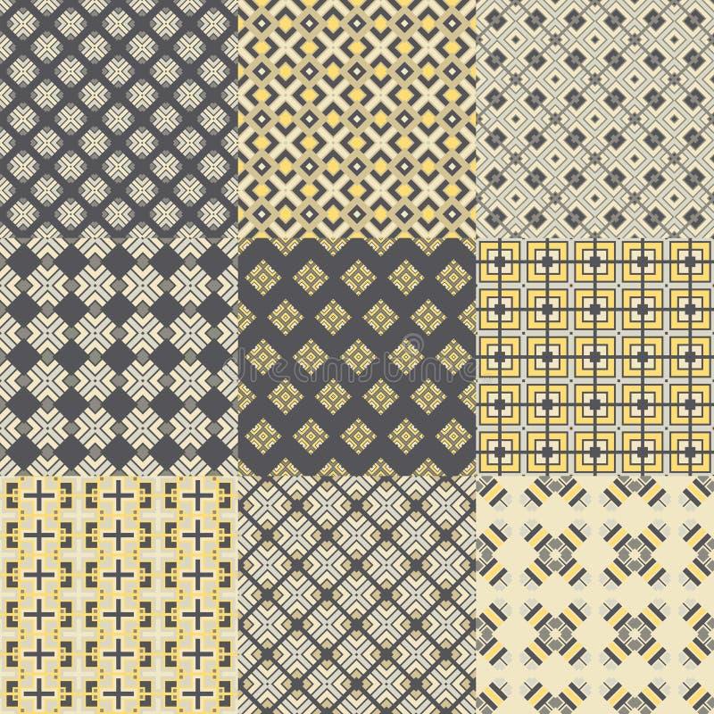 Naadloze geometrische patronen stock illustratie