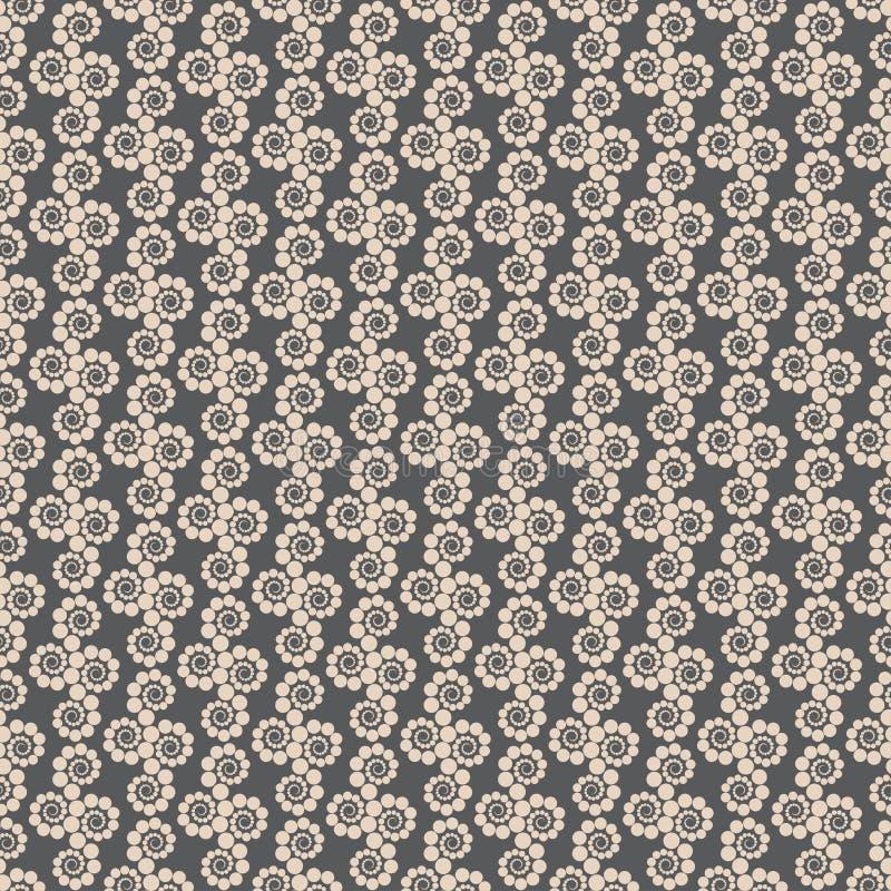 Naadloze geometrische patroonpunten rond Moderne Illustratie stock illustratie