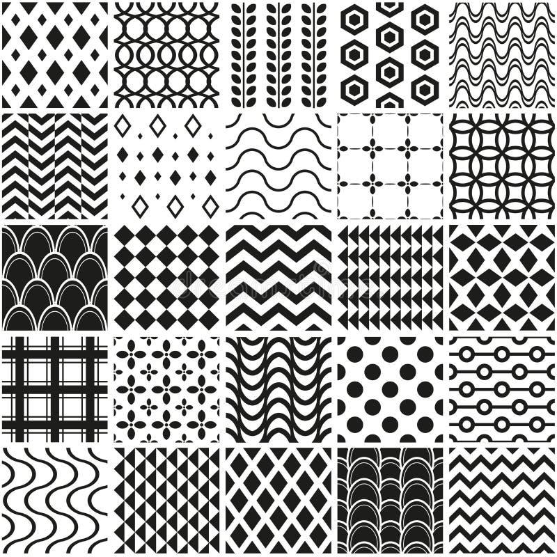 Naadloze geometrische patroonreeks vector illustratie