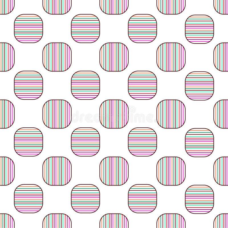 Naadloze geometrische van het patroon vectorontwerp uitstekende retro abstracte kunst als achtergrond met kleurrijke horizontale  stock illustratie