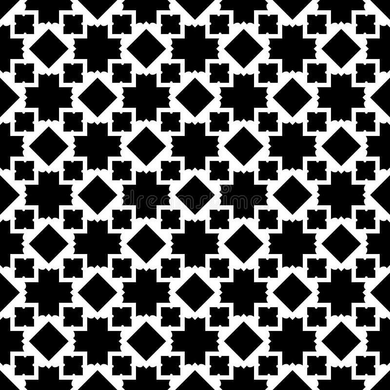 Naadloze geometrische vectorachtergrond, eenvoudige zwart-witte streptokok royalty-vrije illustratie