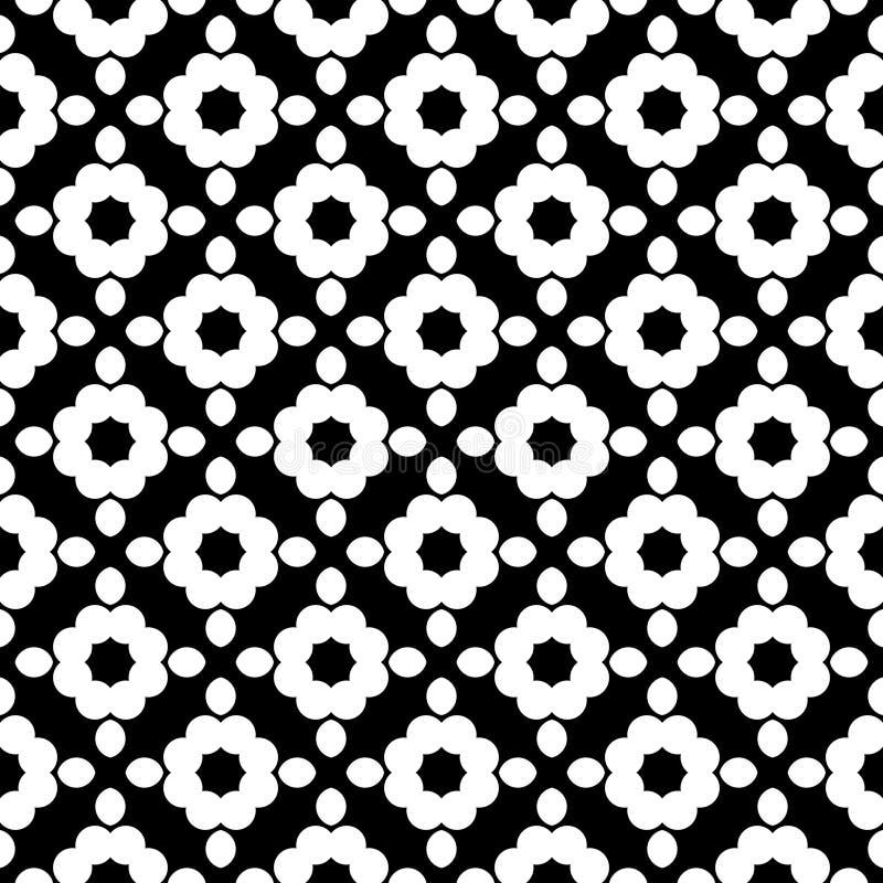 Naadloze geometrische vectorachtergrond, eenvoudige zwart-witte streptokok vector illustratie
