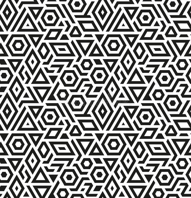 Naadloze geometrische vectorpatroonachtergrond stock afbeelding