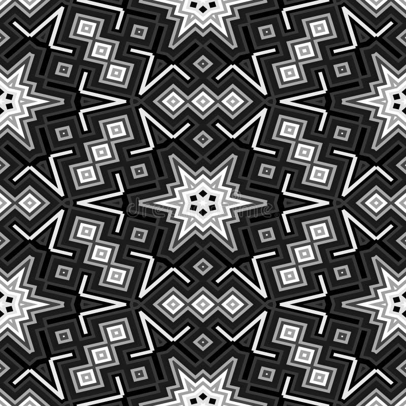 Naadloze geproduceerde de hurentextuur van het kubussen caleidoscopische patroon royalty-vrije illustratie