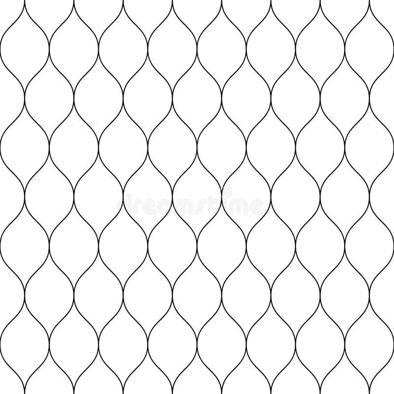 Naadloze getelegrafeerde het opleveren omheining Eenvoudige zwarte vectorillustratie op witte achtergrond royalty-vrije illustratie