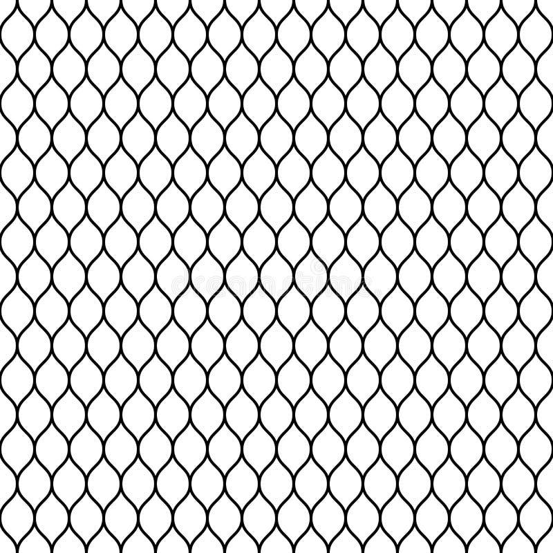 Naadloze getelegrafeerde het opleveren omheining Eenvoudige zwarte vectorillustratie op witte achtergrond vector illustratie