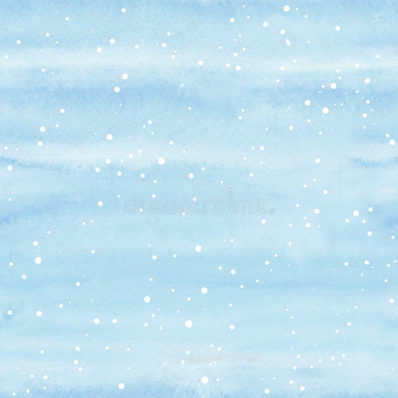 Naadloze gevarieerder gevarieerd gevarieerd met sneeuwvlokken op blauwe achtergrond vector illustratie
