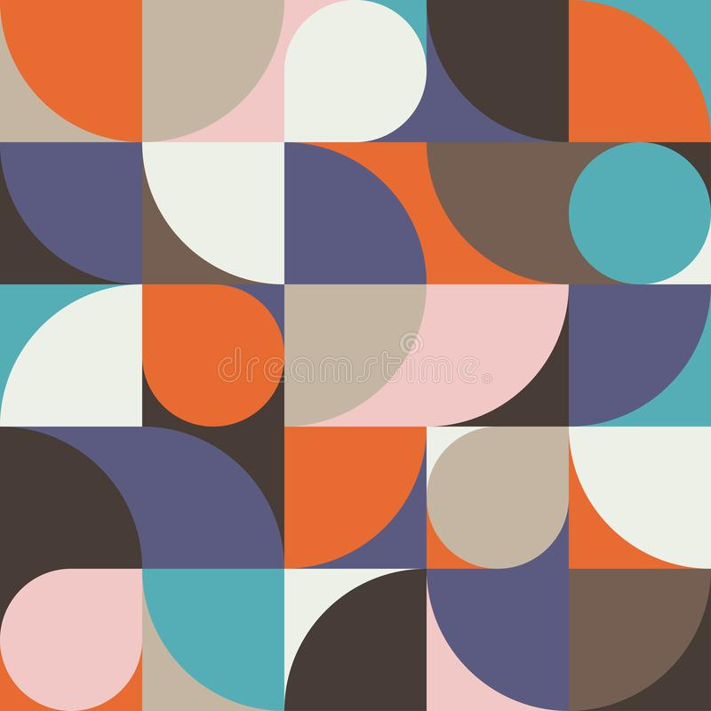 Naadloze gevlekte abstracte geometrische druk Vector multi gekleurde illustratie Origineel geometrisch patroon stock afbeeldingen