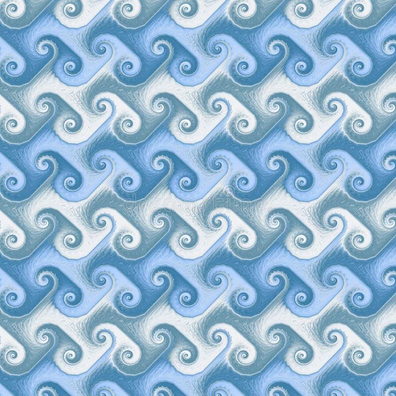 Naadloze golven Japanner royalty-vrije illustratie