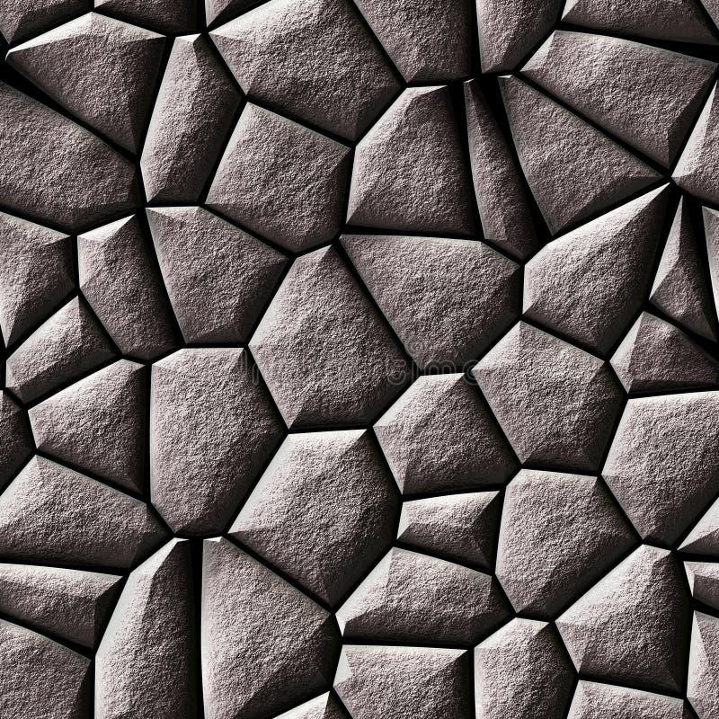 Naadloze grijze rotsentextuur vector illustratie