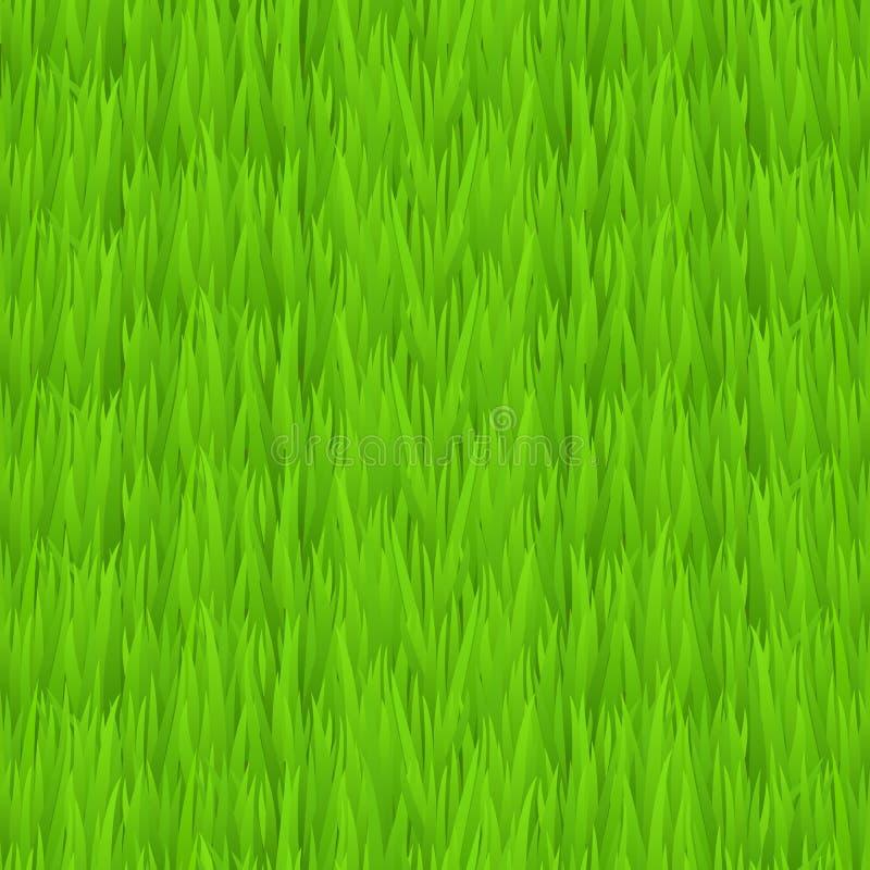 Naadloze groene grastextuur Groene het grasachtergrond van de Tileable vroege lente vector illustratie