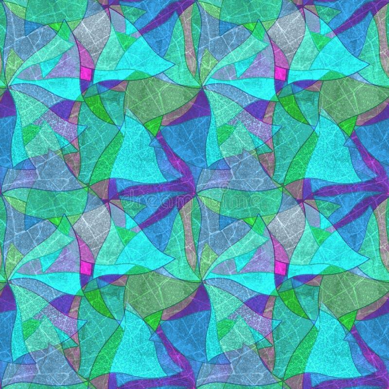 Naadloze grungeachtergrond, caleidoscopisch helder multicolored patroon, royalty-vrije illustratie