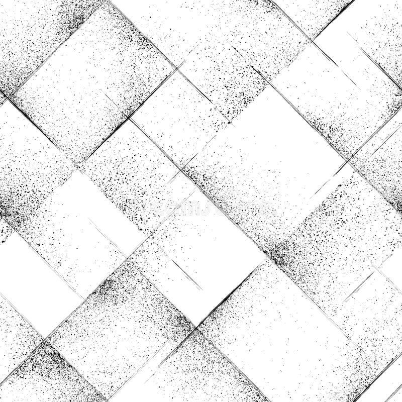 Naadloze grungetextuur Vector abstracte achtergrond stock foto