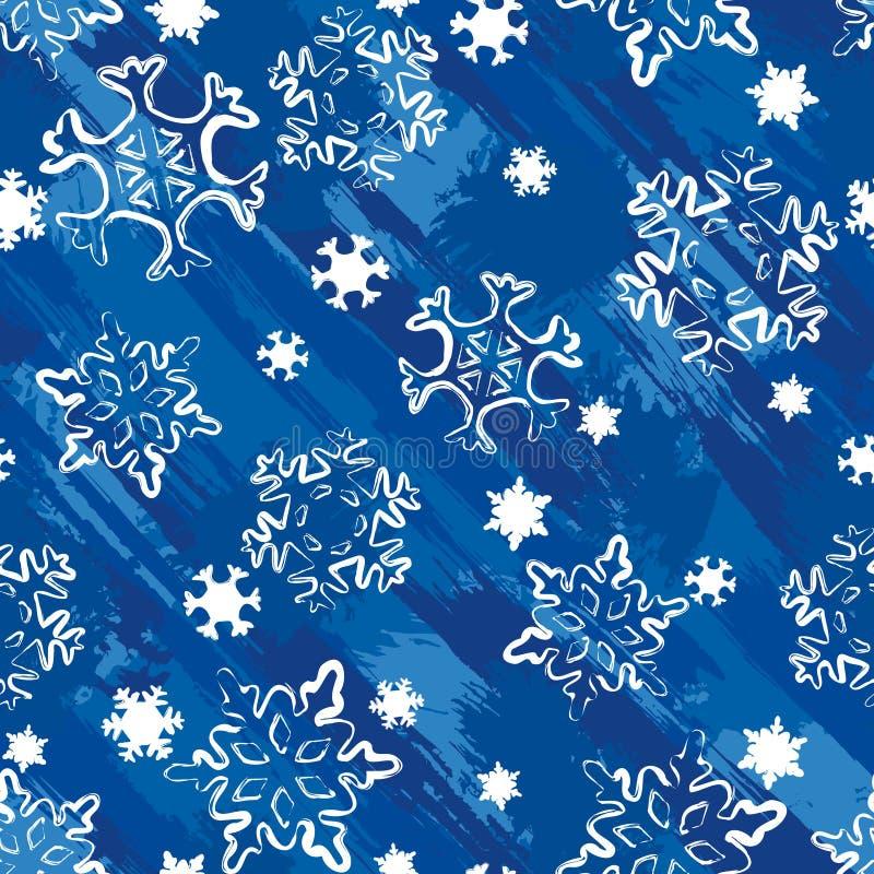 Naadloze grungy de winterachtergrond vector illustratie