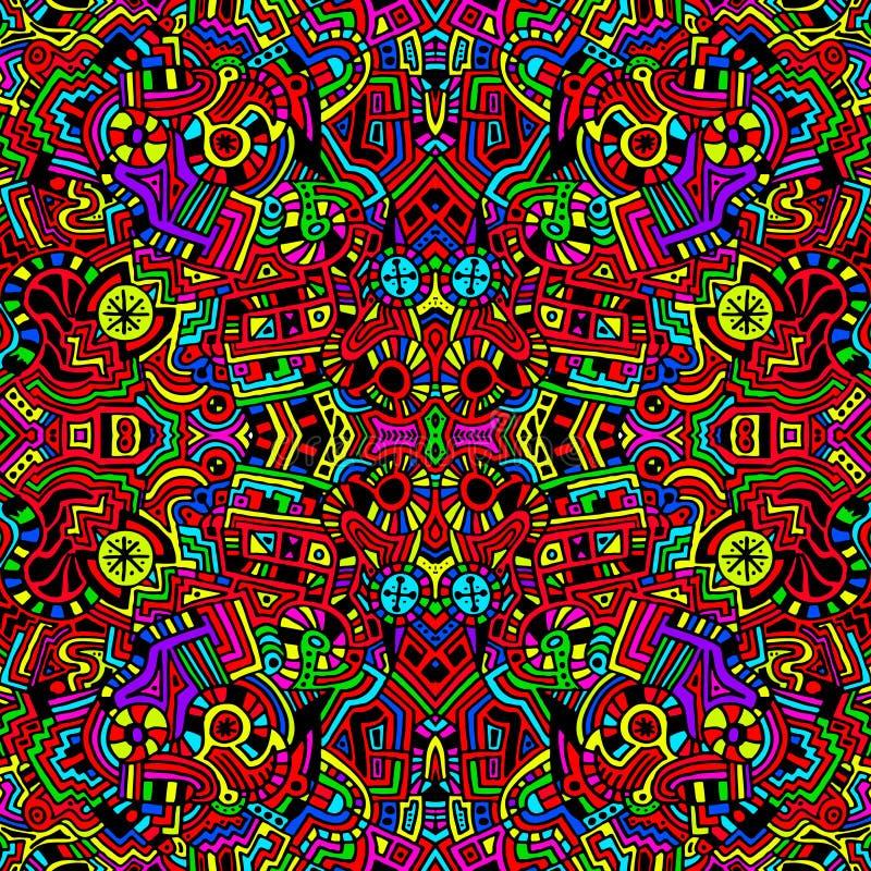 Naadloze Heldere Kleurrijke Abstracte Achtergrond vector illustratie