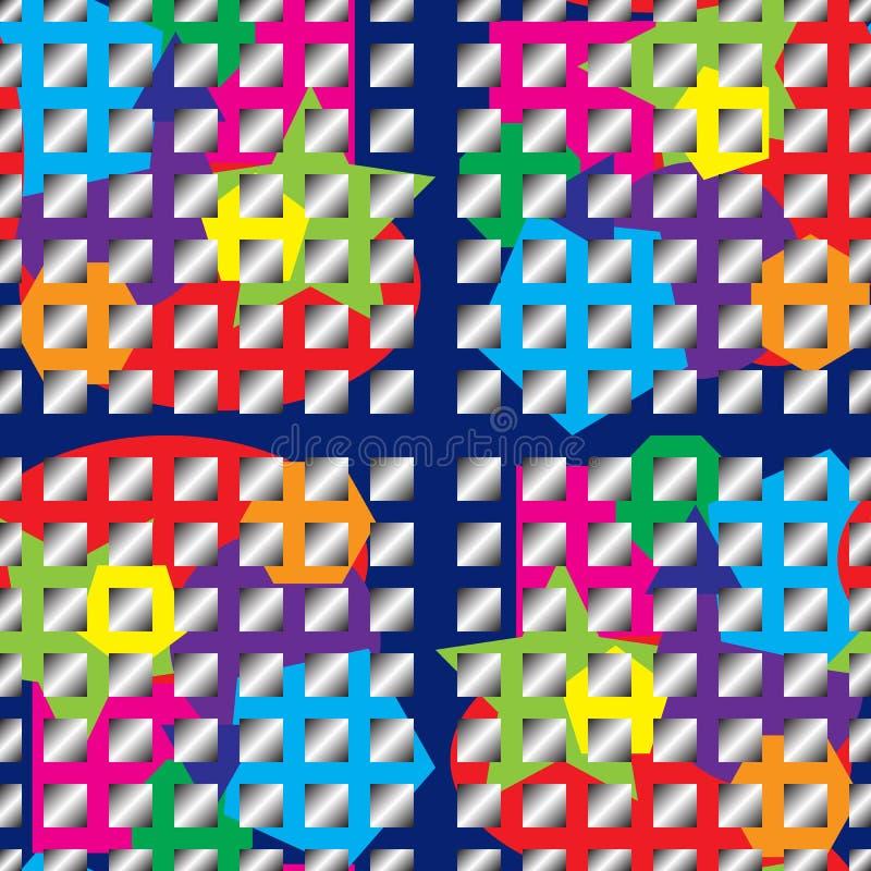 Naadloze heldere van de kleurentextuur en gradiënt vierkanten vector illustratie