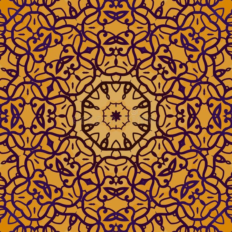 Naadloze het overzichts kleurrijke vector van de hennakleur royalty-vrije illustratie