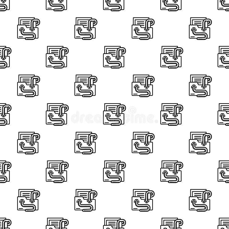 Naadloze het patroon van de e-mailvirusworm vector illustratie