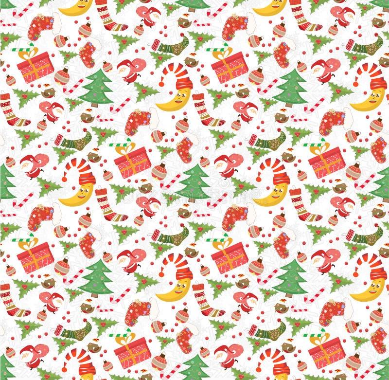 NAADLOZE het Patroon van Kerstmis royalty-vrije illustratie