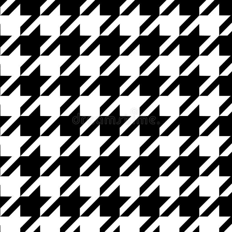 Het naadloze zwart-witte patroon van Houndstooth, vector royalty-vrije illustratie