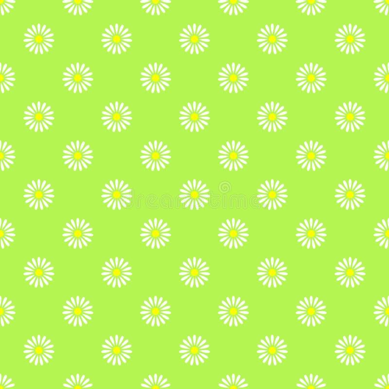 Naadloze het patroonachtergrond van de bloem vector illustratie