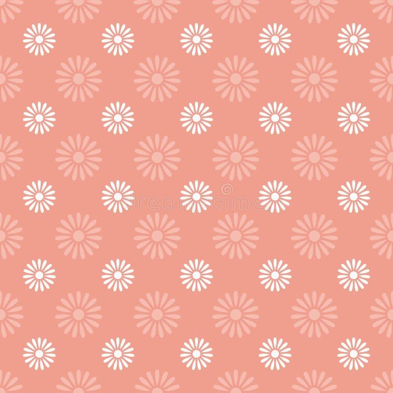 Naadloze het patroonachtergrond van de bloem royalty-vrije illustratie