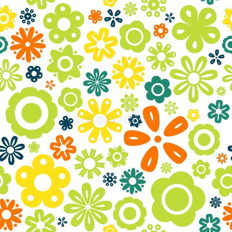 Naadloze het patroonachtergrond van de bloem stock illustratie