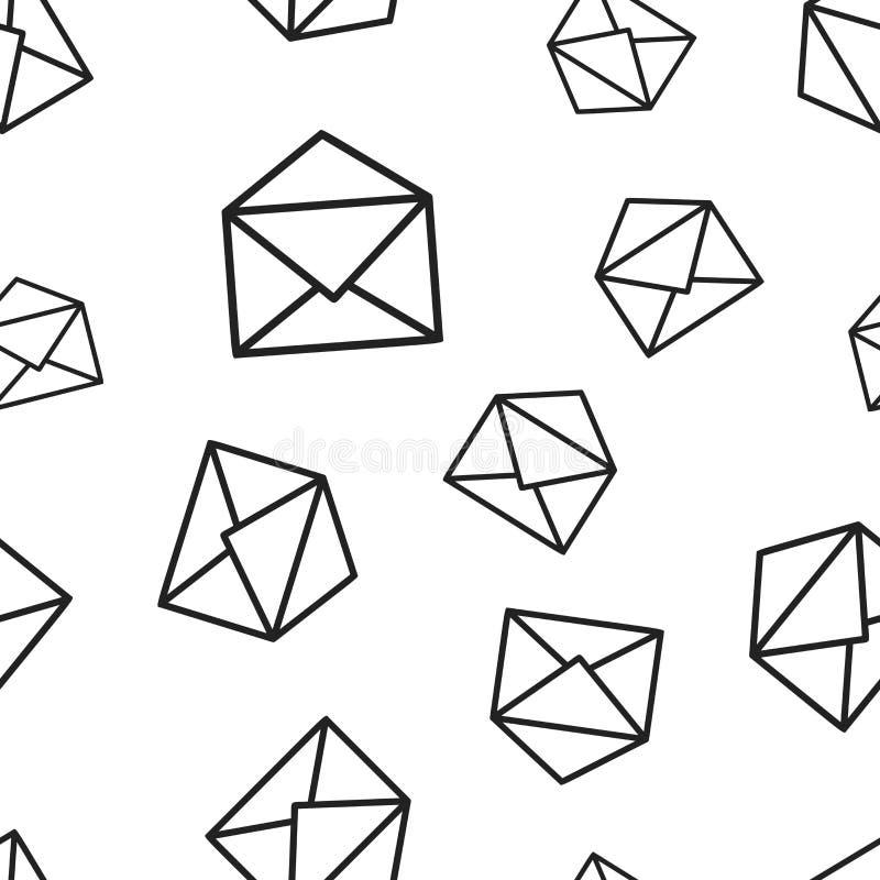 Naadloze het patroonachtergrond van de postenvelop Bedrijfsconcept vect royalty-vrije illustratie