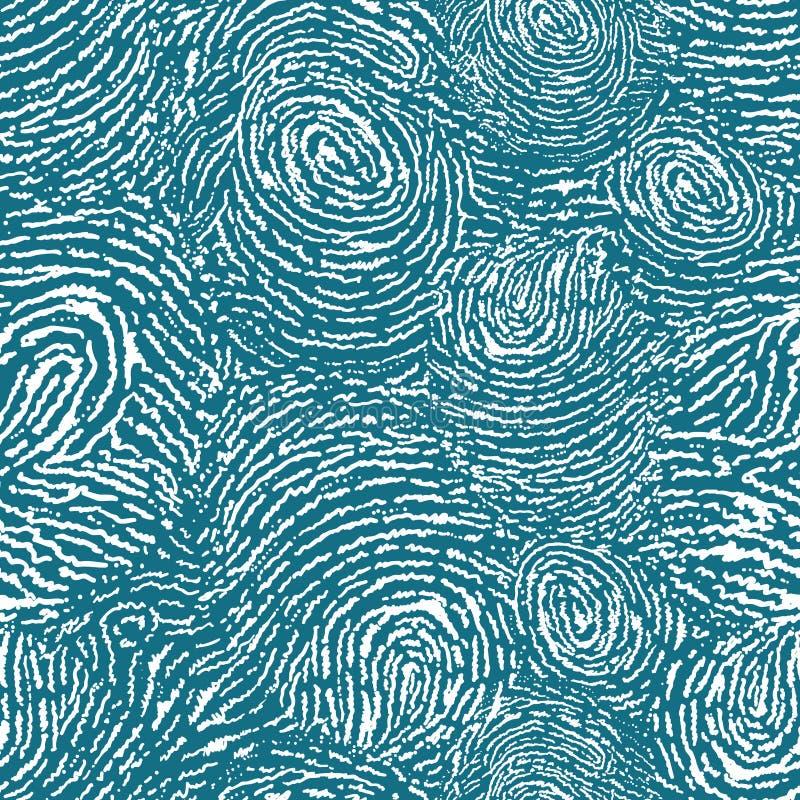 Naadloze het patroonachtergrond van de vingerafdruktextuur royalty-vrije illustratie
