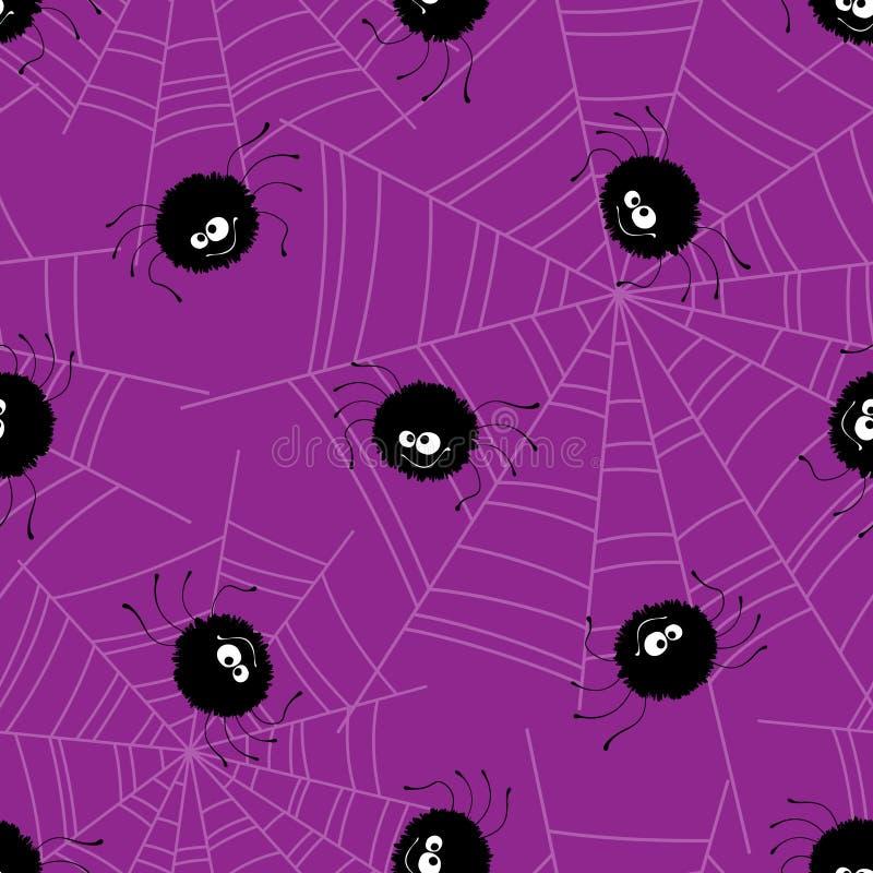 Naadloze het patroonachtergrond van Halloween Vector royalty-vrije illustratie