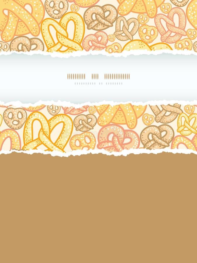 Download Naadloze Het Patroonachtergrond Van Het Pretzels Verticale Gescheurde Kader Stock Foto - Afbeelding bestaande uit vrij, groep: 39107066