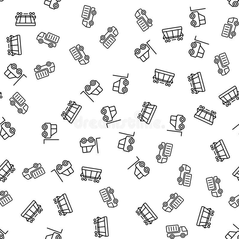 Naadloze het Patroonvector van de ladings Commerciële Logistiek royalty-vrije illustratie