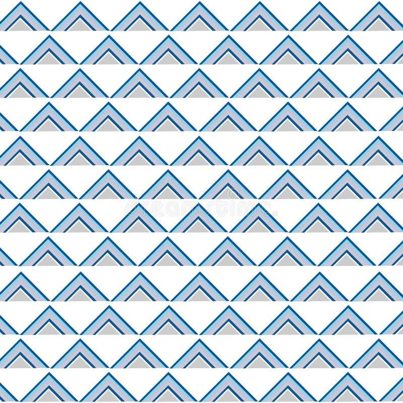 Naadloze het patroonvector van het driehoekspop-art stock illustratie