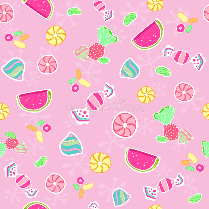 Naadloze het suikergoed herhaalt de Vector van het Patroon royalty-vrije illustratie