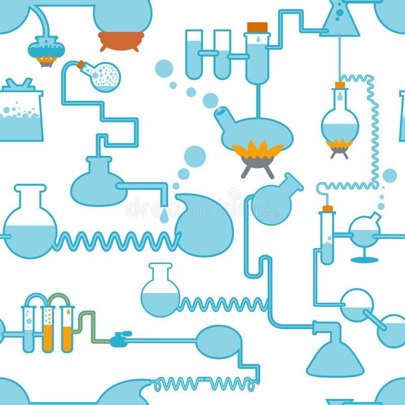 Naadloze het symbool van de chemie stock illustratie