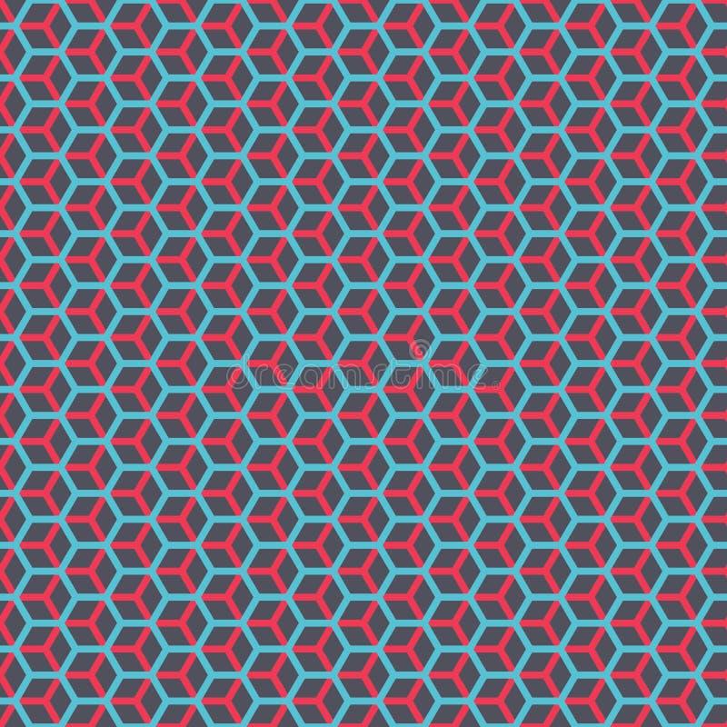 Naadloze hexagonale honingraat gelaagde de textuurachtergrond van het kubus geometrische patroon vector illustratie
