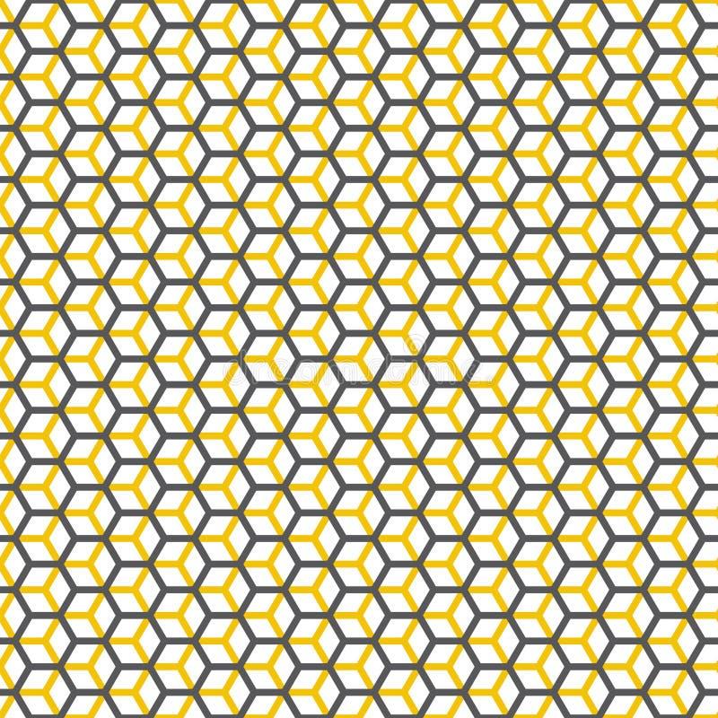 Naadloze hexagonale honingraat gelaagde de textuurachtergrond van het kubus geometrische patroon royalty-vrije illustratie