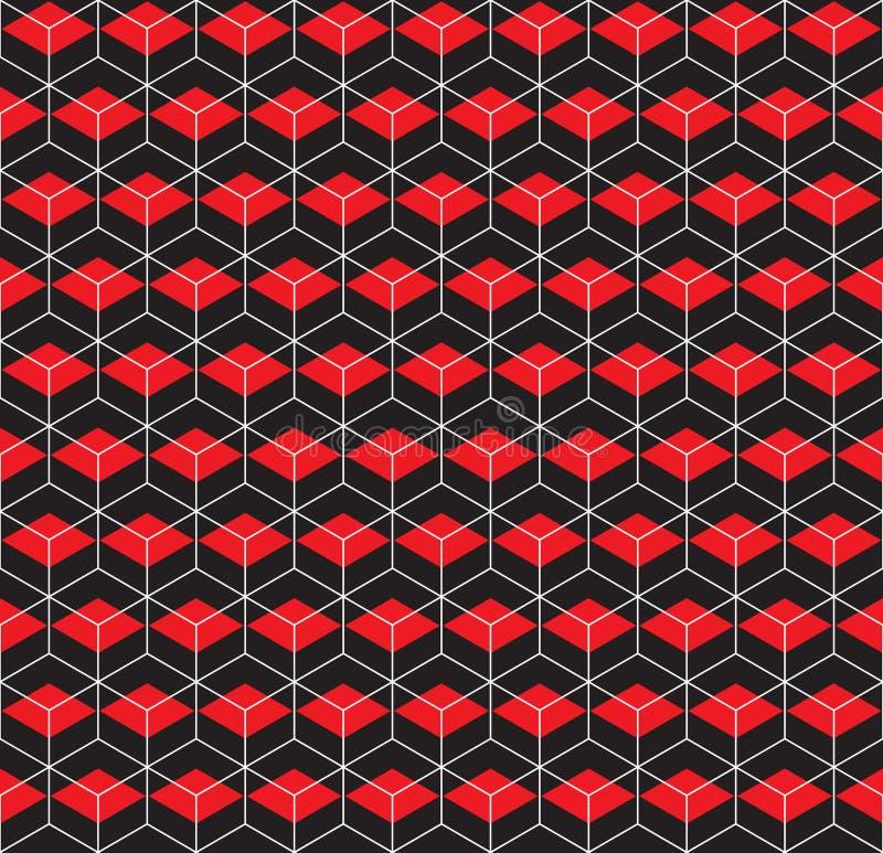 Naadloze hexagonale honingraat gelaagde de textuurachtergrond van het kubus geometrische patroon stock illustratie