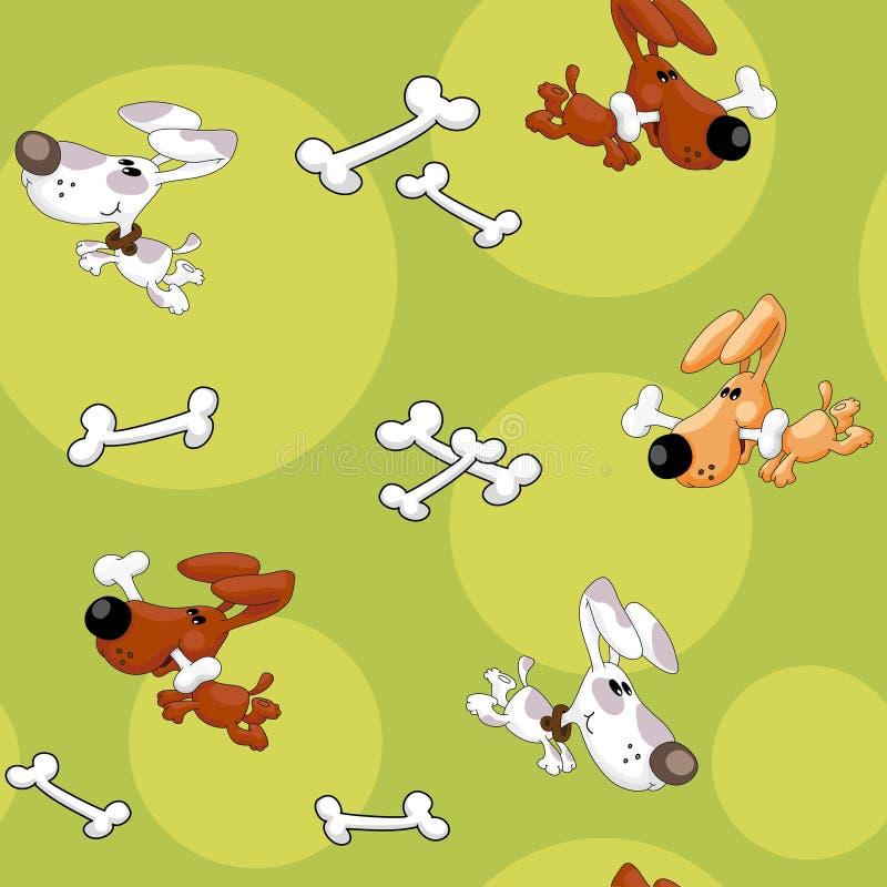 Naadloze honden en beenderen stock illustratie