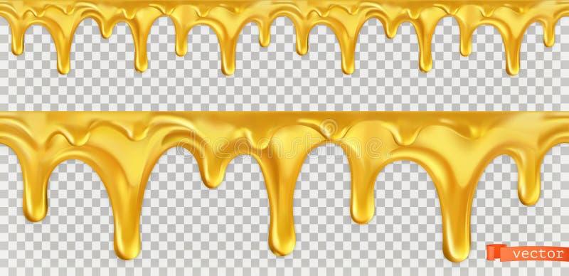 Naadloze honingsdaling Vector stock illustratie
