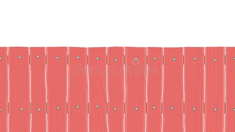 Naadloze houten omheining stock illustratie