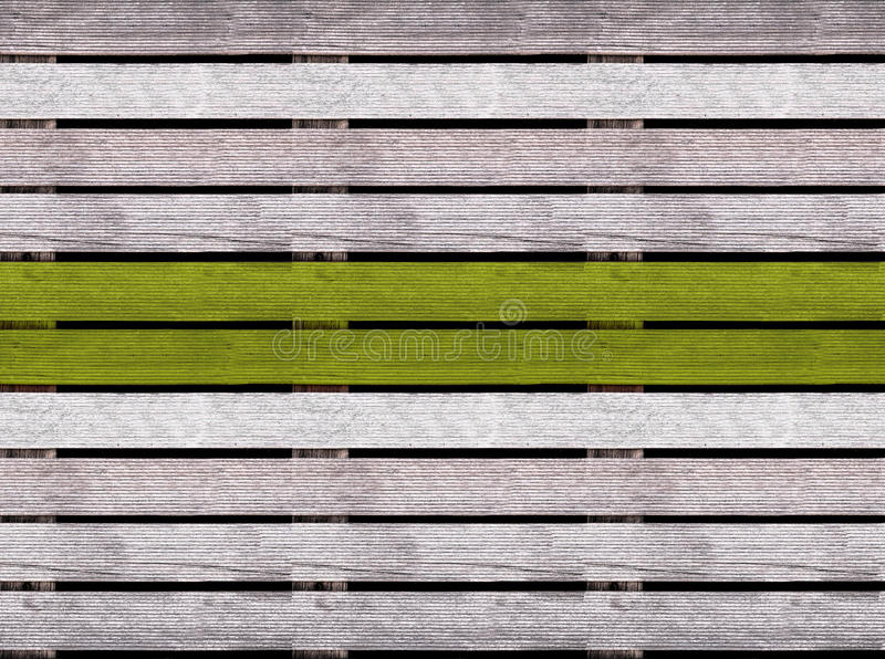 Naadloze houten textuur van vloer of bestrating met groene lijn, houten pallet stock foto's