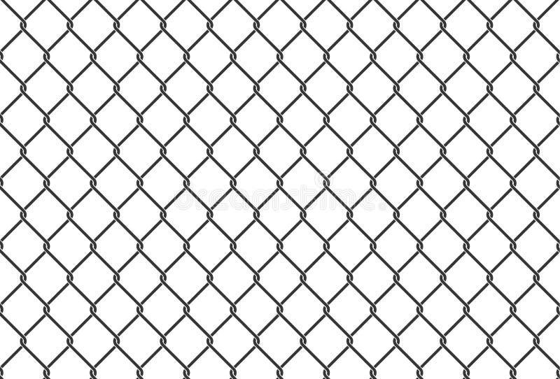 Naadloze ijzer netto illustratie metaal netto omheining Het kan voor prestaties van het ontwerpwerk noodzakelijk zijn stock illustratie