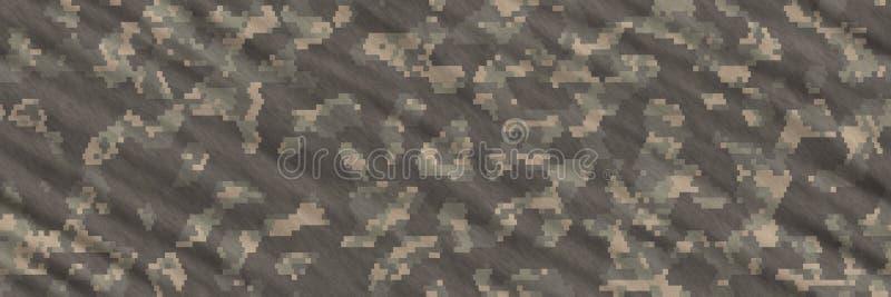Naadloze illustraties De textielsamenvatting van het camouflagepatroon royalty-vrije illustratie