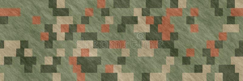 Naadloze illustraties De textielsamenvatting van het camouflagepatroon stock illustratie