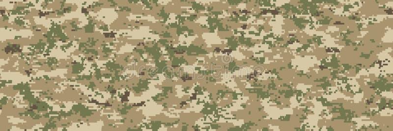 Naadloze illustraties De textielsamenvatting van het camouflagepatroon vector illustratie