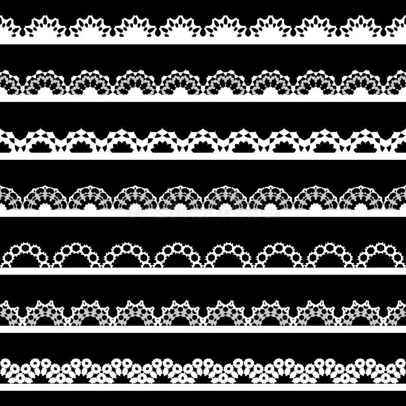 Naadloze kantgrens vector illustratie