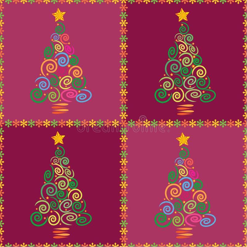 Naadloze kerstboom vector illustratie